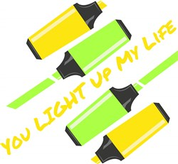 Hilighters You Light Up My Life print art