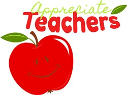 Apple Appreciate Teachers print art