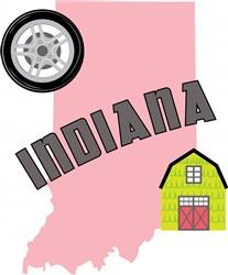 Indiana Indiana print art