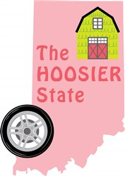 Indiana The Hoosier State print art
