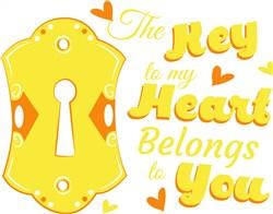 Key Hole The Key To My Heart Belongs To You print art