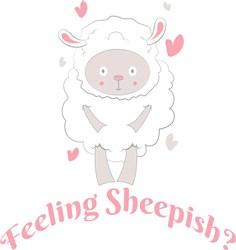 Lamb Feeling Sheepish print art