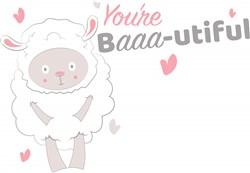 You re Baaa utiful print art