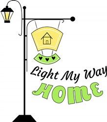 Lamp Post Light My Way Home print art