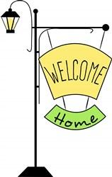 Lamp Post Welcome Home print art