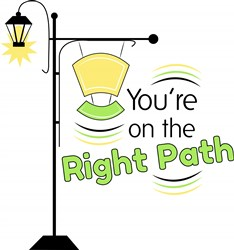 Lamp Post You re On The Right Path print art