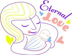 Mom Eternal Love print art