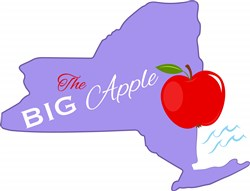 New York The Big Apple print art