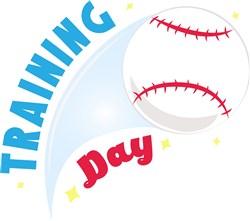 Baseball Training Day print art