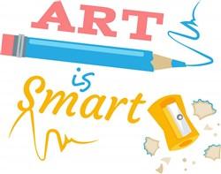 Pencil Sharpener Art Is Smart print art