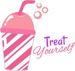 Pink Cup Treat Yourself print art