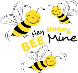 Bee Hey Honey Bee Mine print art