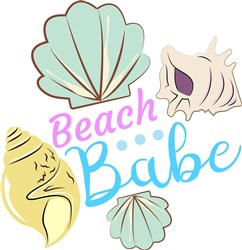 Shells Beach Babe print art