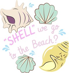 Shell We Go To The Beach print art