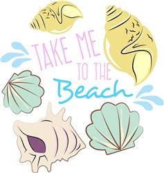 Shells Take Me To The Beach print art