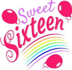 Sixteen Sweet Sixteen print art