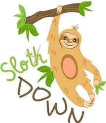 Sloth Slo Down print art