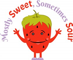 Strawberry Mostly Sweet Sometimes Sour print art
