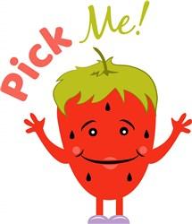Strawberry Pick Me! print art
