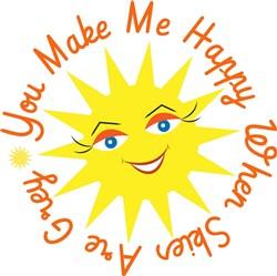 Sun You Make Me Happy When Skies Are Grey print art