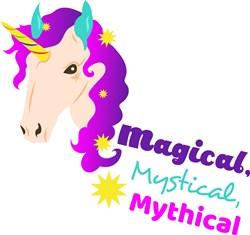 Unicorn Magical Mystical Mythical print art