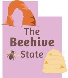 Utah The Beehive State print art