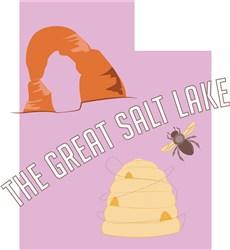 Utah The Great Salt Lake print art