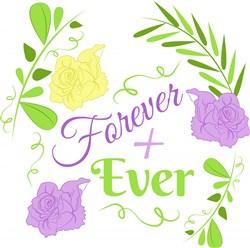 Wedding Florals Forever + Ever print art