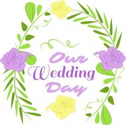 Wedding Florals Our Wedding Day print art