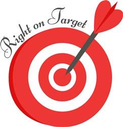 Bullseye Right On Target print art