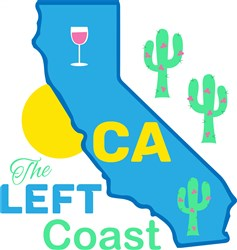 California The Left Coast print art