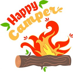 Campfire Happy Camper print art