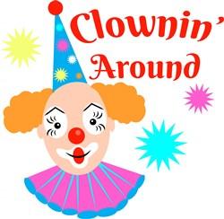 Clownin Around print art