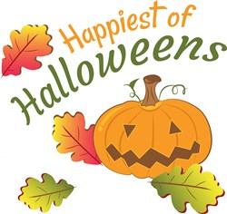 Fall Pumpkin Happiest Of Halloweens print art