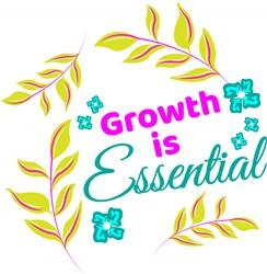 Florals Growth Is Essential print art