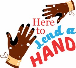 Glove Here To Lend A Hand print art