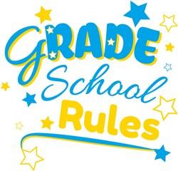 Grade School Rules print art