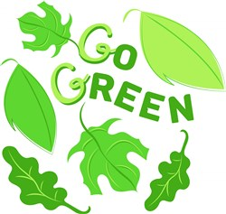 Go Green print art