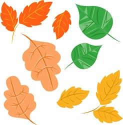 Leaves print art