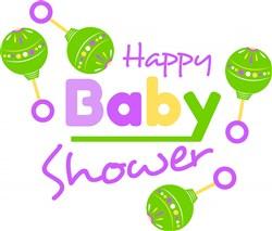 Happy Baby Shower print art