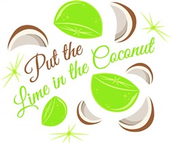 Put The Lime In The Coconut print art