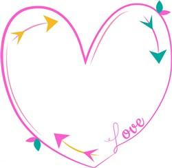 Line Heart print art