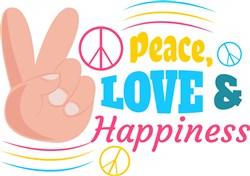 Peace Love & Happiness print art