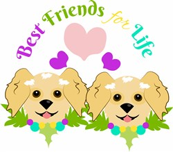 Dog Best Friends For Life print art