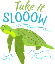 Turtle Take It Slow print art