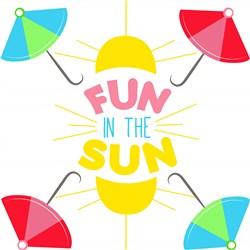 Umbrellas Fun In The Sun print art