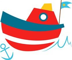 Boat print art