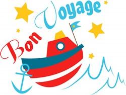 Boat Bon Voyage print art