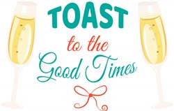 Champagne Toast To The Good Times print art