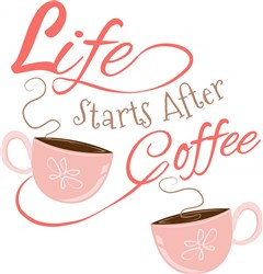 Life Starts After Coffee print art